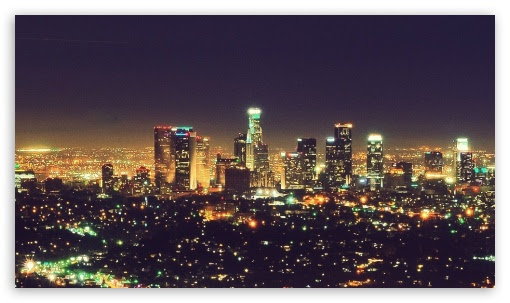 city night Los Angeles lights nightlife life 4K HD Desktop Wallpaper for • Tablet • Smartphone