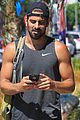 nyle dimarco shows off his buff arms heading to the gym 02