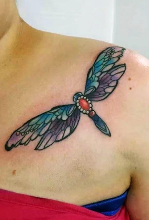 75 desenhos de tatuagem de libélula bonito e sexy 5 por Bryan
