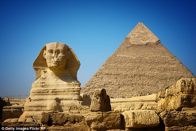 Historians believe the original half-human, half-lion sphinx was built by the Egyptians around 5,000 years ago
