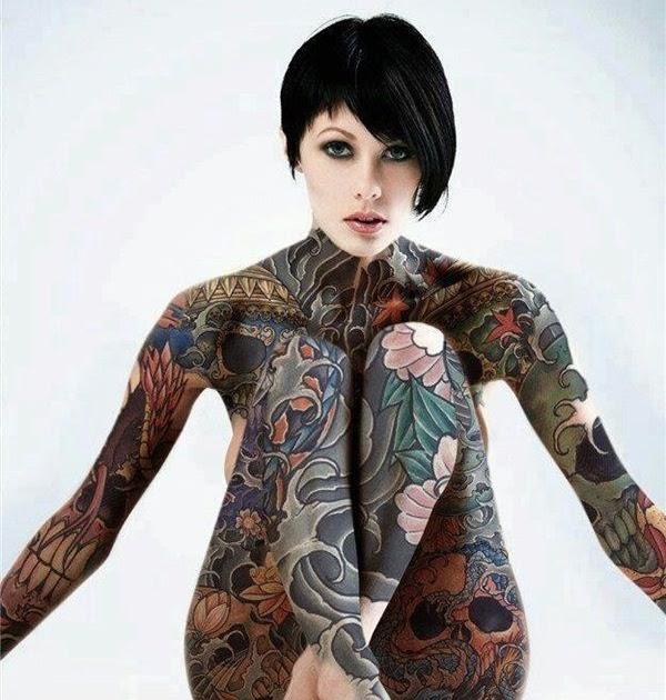 Sexy nude girl with beautiful full body tattoos Tattoos Pinterest Full body tattoos - Free