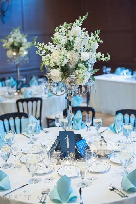 Tiffany Blue Table Settings & Tiffany Blue Wedding Table