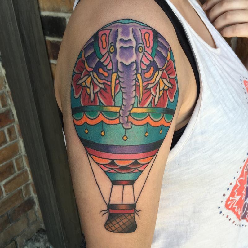 Rebel Muse Tattoo Tattoos Small Elephant Hot Air Balloon