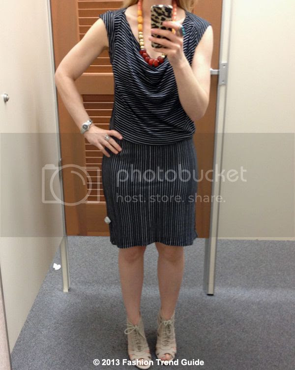 Derek Lam Kohl's DesigNation black striped drop waist dress