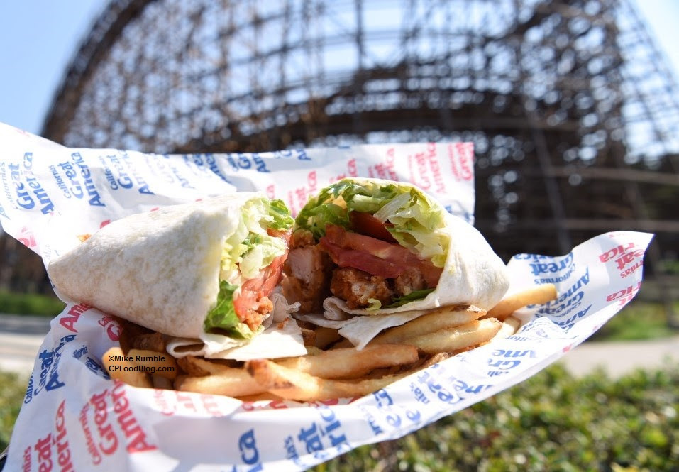 Review California S Great America Chicken Caesar Wrap Cp Food Blog
