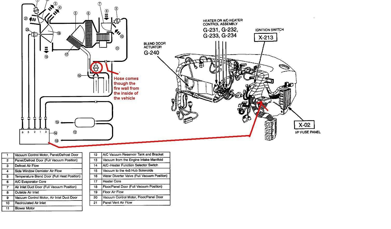 1998 Ford taurus vacuum hose diagram