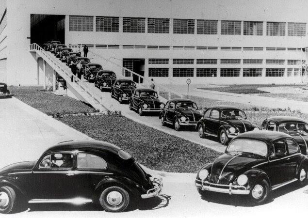 Primeiros Fuscas produzidos em São Bernardo do Campo (SP) em 1959