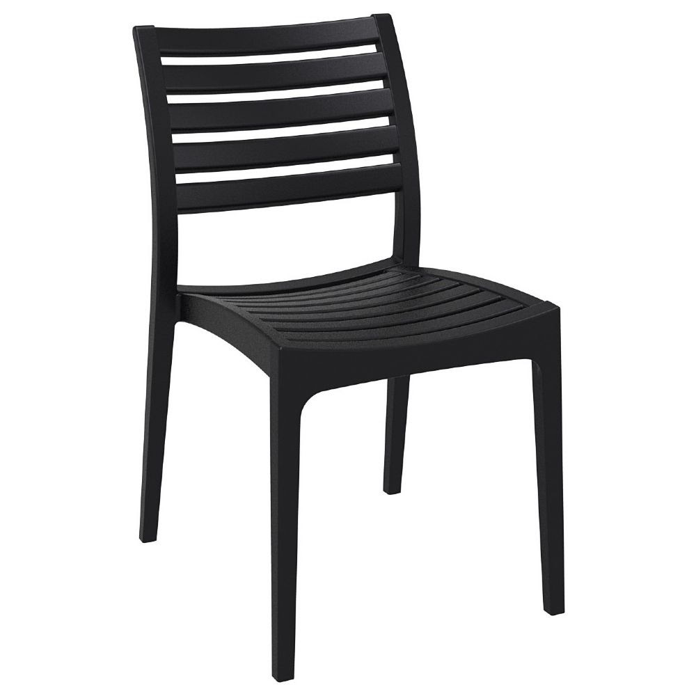 Compamia : Ares Resin Outdoor Dining Chair Black ISP009-BLA