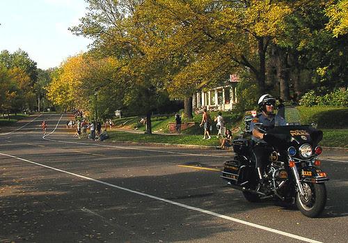 Twin Cities Marathon:  Streets very quiet