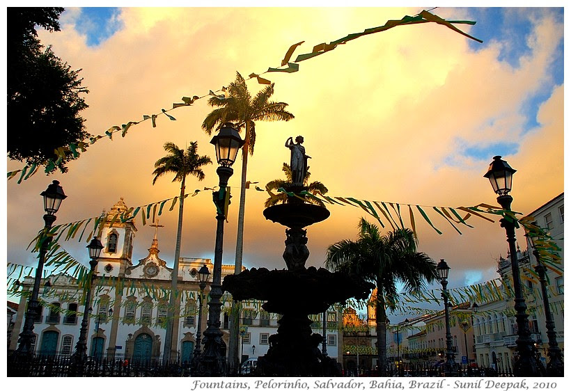 Around the World in 30 beautiful Fountains - Salvador, Brazil - Images by Sunil Deepak