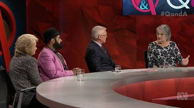 Greer told the panel Australia has a problem with the word 'know' as a transgender person cannot 'know what the other sex is'