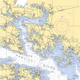 North Carolina   Belhaven / Nautical Chart Decor
