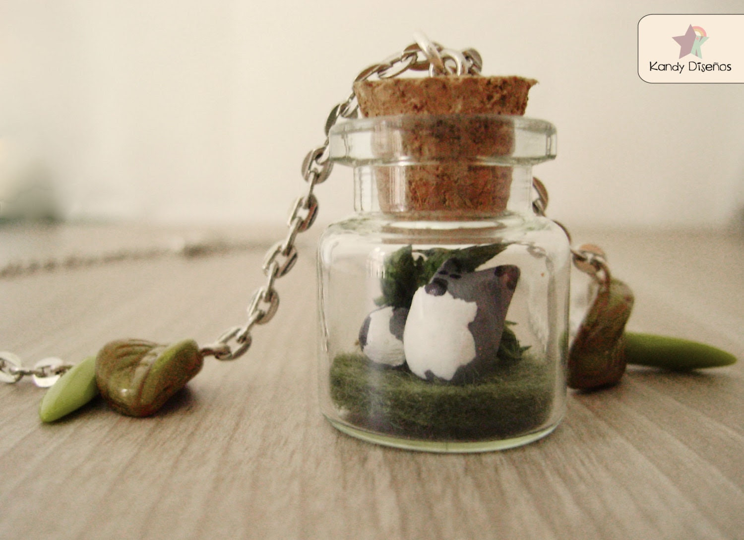 Wolf terrarium necklace. Woodland Forest Bottle Necklace Tiny wolf necklace Woodland necklace Forest jewelry Miniature forest Miniature wolf - KandyDisenos