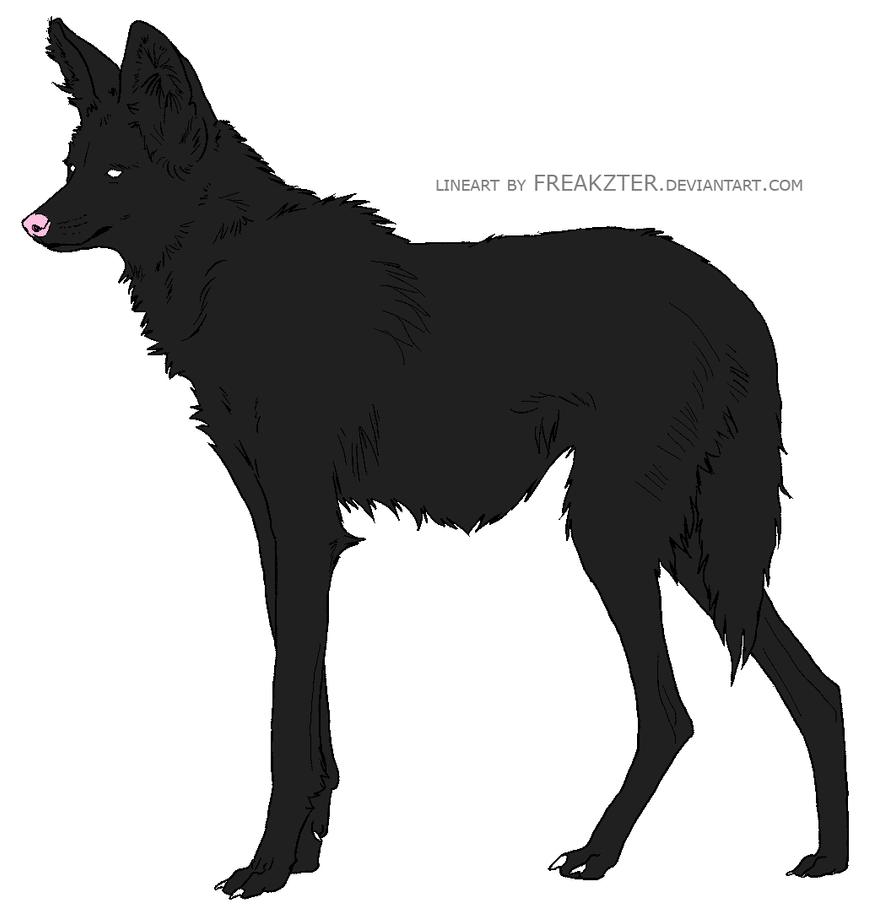 Maned wolf Lineart by BluWinterWolf on DeviantArt
