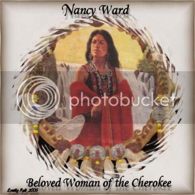 beloved female leader of the Cherokee