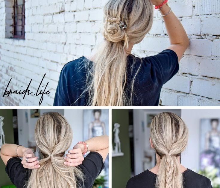 sommer frisuren lange haare zopf - frisur stil