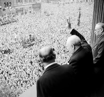 http://commons.wikimedia.org/wiki/File:Churchill_waves_to_crowds.jpg