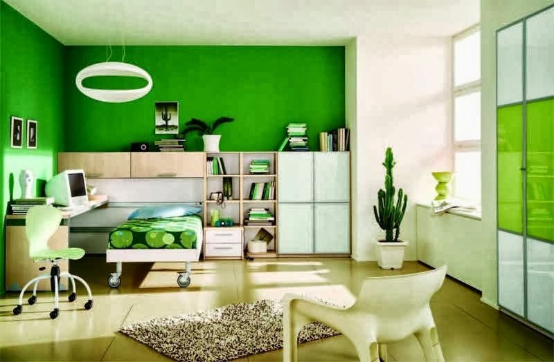 Perpaduan warna cat rumah bagian dalam hijau - Desain ...