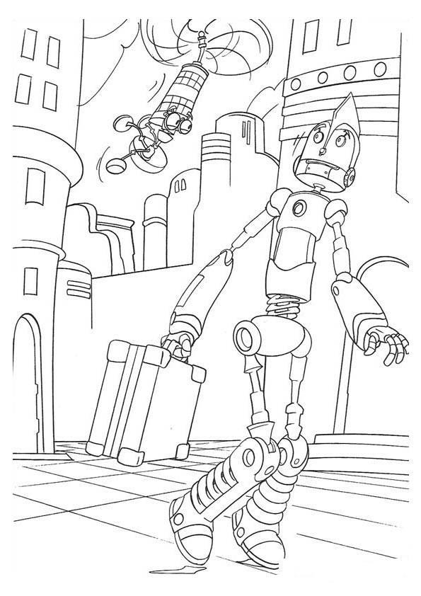 ausmalbilder zum ausdrucken roboter  malbild