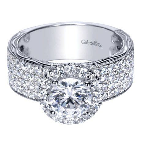 Victorian Halo Engagement Ring from Gabriel NY   love the