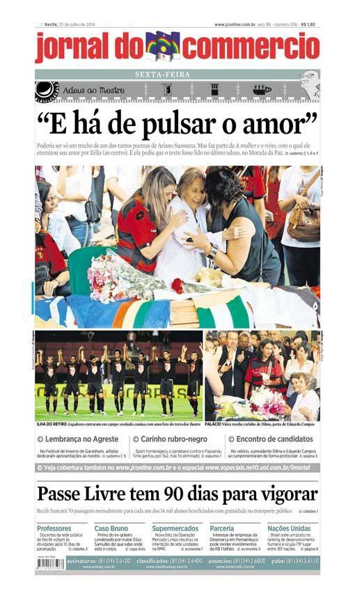 Capa do Jornal - 25/07/2014