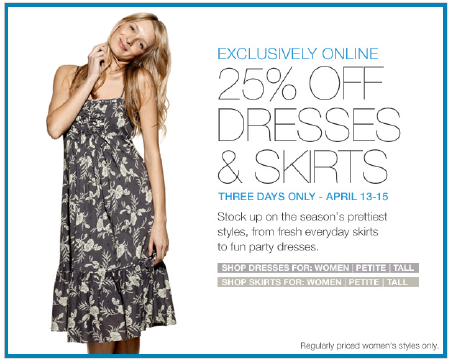 Gap.com Dresses and Skirts Sale