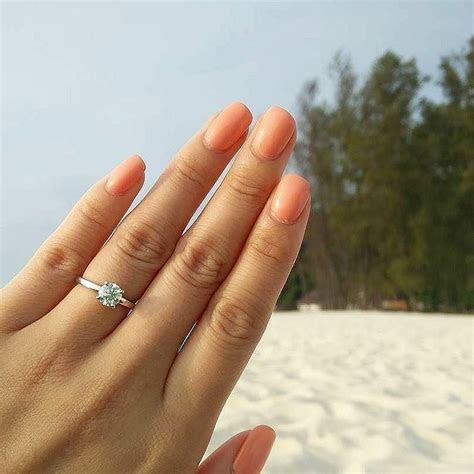 Low Dome Comfort Fit Solitaire Engagement Ring in 14k