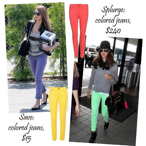 Jessica Alba Style - The Colored Jeans