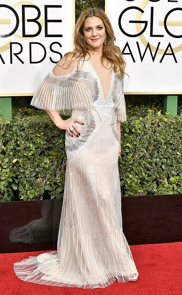 2017 Golden Globes Red Carpet Arrivals Drew Barrymore, 2017 Golden Globes, Arrivals