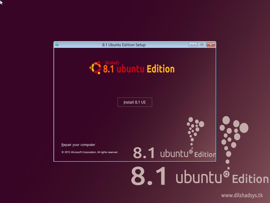 Windows 8.1 Ubuntu Edition (X64 / 64Bit) 2015