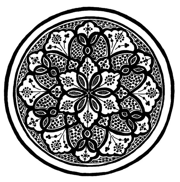 detailed African floral roundel design (probably Berber in origin)
