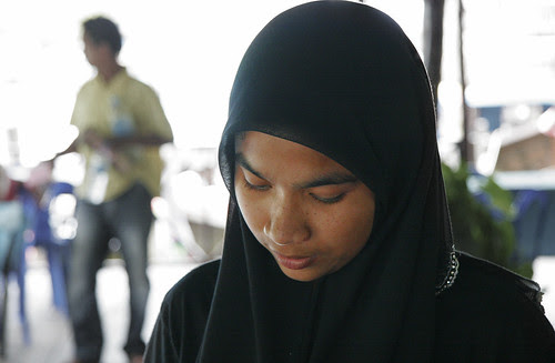 Muslim girl at Bang Rong