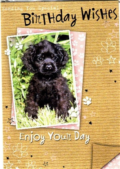Poodle Puppy Happy Birthday card Personalised Braille Card