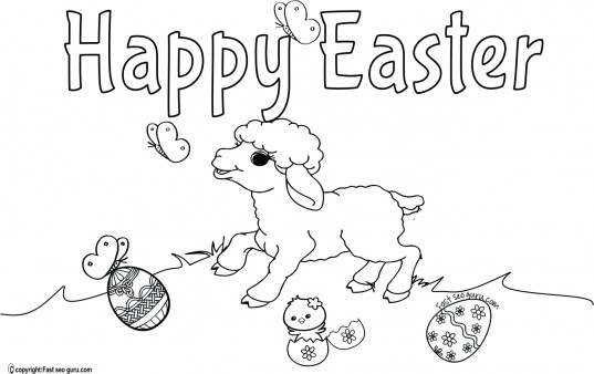 106 Printable Coloring Easter Pictures Picture HD
