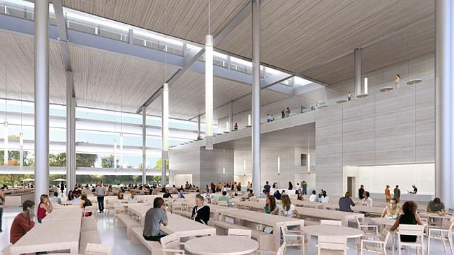 Inside the 90,000 sq ft cafeteria. Source: City of Cupertino Source: Supplied