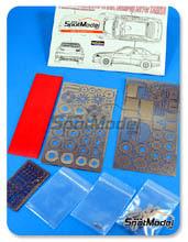 Fotograbado 1/24 Hobby Design - Mitsubishi Lancer EVOVI WRC - resinas + fotograbados para kit de Tamiya TAM24220