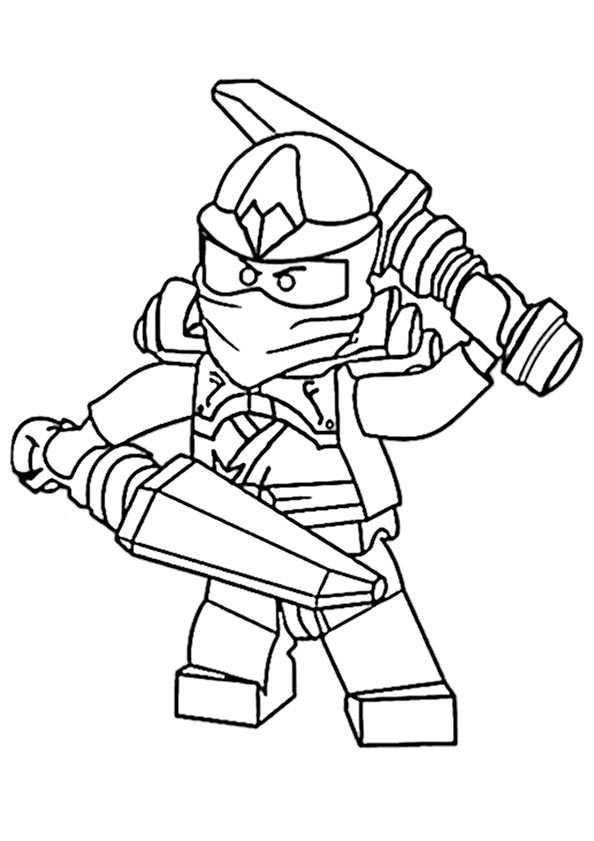 Ausmalbilder kostenlos Ninjago 19 | Ausmalbilder Kostenlos