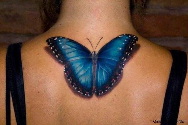 96 Tattoo 3d Vlinder
