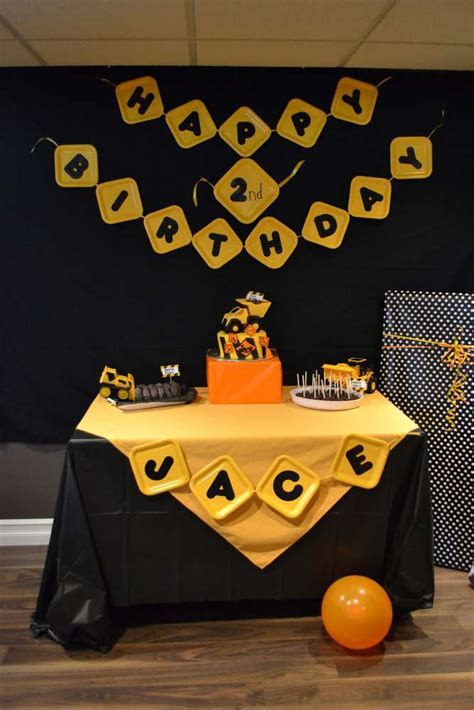 Construction Birthday Party Ideas   Photo 1 of 23   Catch