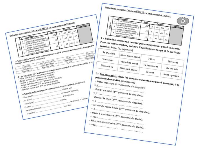 écrire Un Texte Au Passé Composé Cm2 - Exemple de Texte