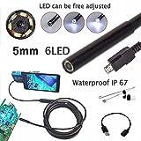 LeaningTech USB防水内視鏡 Android 用 エンドスコープ スネイクカメラ 工業用 自宅用 カメラヘッド外径5mm/2Mケーブル
