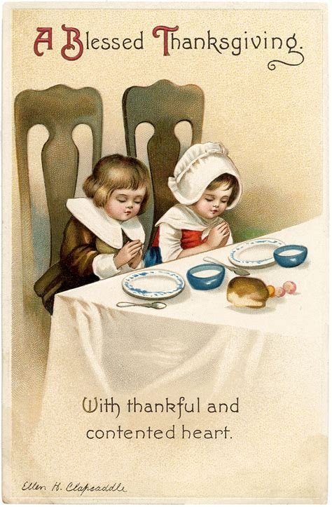 Thanksgiving Image Free Download   Saying Grace   The