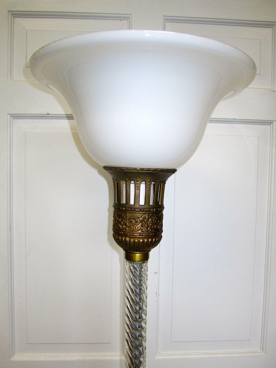 Frankart Signed Floor Lamp Light from revivalhome on Ruby Lane
