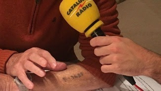El braç de Sobol encara conserva el tatuatge que li van fer a Auschwitz