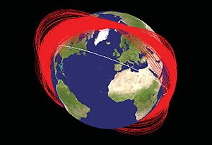 Known orbit planes of Fengyun-1C debris one mo...