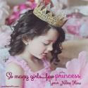 Princess Birthday Cake With Name Generator