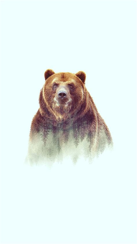 grizzly bear art iphone wallpaper iphone wallpapers