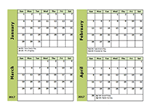 Free 2017 Monthly Calendar Templates - Download Blank & Printable ...