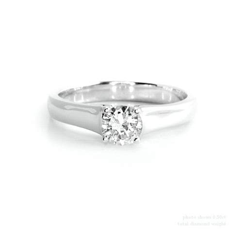 round diamond thick band engagement rings   Engagement