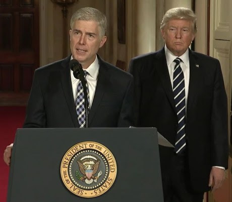 Neil Gorsuch And Donald Trump - Public Domain